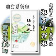 【令和2年産】 滋賀県産 環境こだわり米 みずかがみ 無洗米 10kg